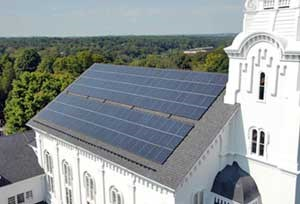 Solar Panels at South Church Andover